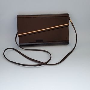 Vintage 80's 💋 black and gold box purse